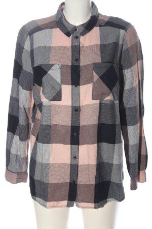 H&M Divided Chemise de bûcheron rose-bleu motif à carreaux style décontracté