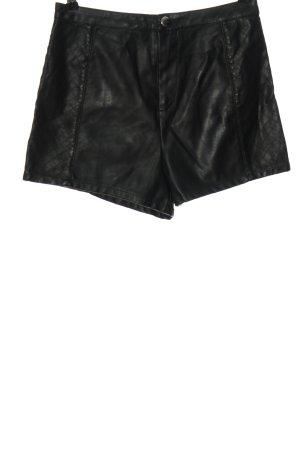 H&M Divided Hot pants zwart quilten patroon casual uitstraling