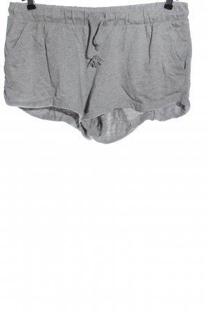 H&M Divided Hot Pants hellgrau meliert Casual-Look