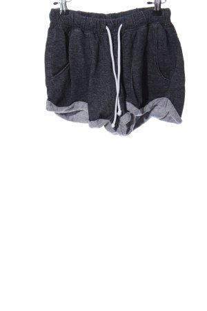 H&M Divided Hot Pants hellgrau meliert Casual-Look