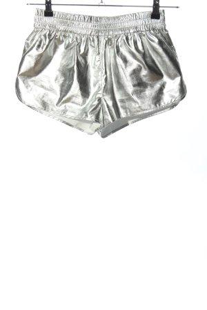H&M Divided High-Waist-Shorts silberfarben Casual-Look