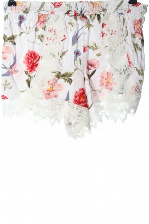 H&M Divided Hot Pants white-red allover print casual look