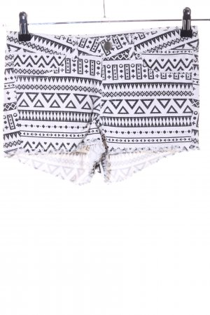 H&M Divided Hot pants wit-zwart grafisch patroon straat-mode uitstraling