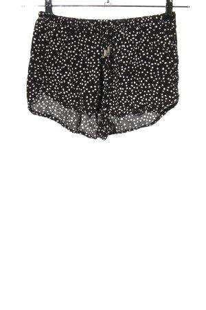 H&M Divided Krótkie szorty czarny-biały Na całej powierzchni W stylu casual