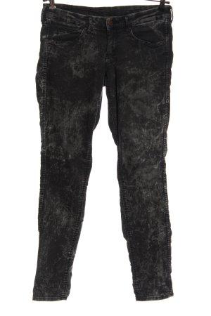H&M Divided Vaquero hipster negro estampado con diseño abstracto look casual