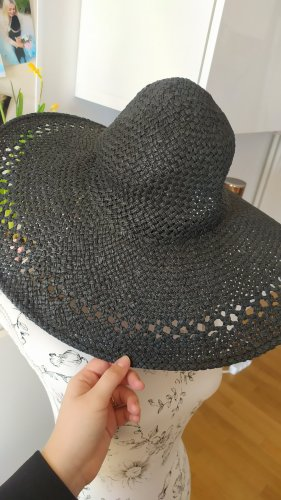 H&M Sombrero de ala ancha gris antracita-negro