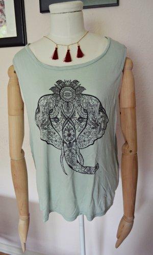 H&M Divided indischer Elefant Shirt Top Mint türkies