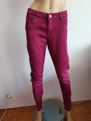 devided Low-Rise Trousers magenta