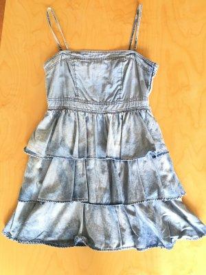 H&M Divided Jeans Volant Mini Kleid Gr 36/38/40