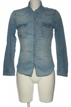 H&M Divided Blusa denim blu stile casual