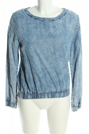 H&M Divided Jeansbluse blau Casual-Look