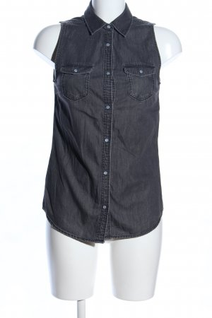 H&M Divided Jeansbluse schwarz Casual-Look