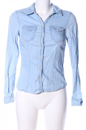 H&M Divided Jeanshemd blau Casual-Look