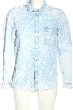 H&M Divided Jeanshemd blau meliert Casual-Look