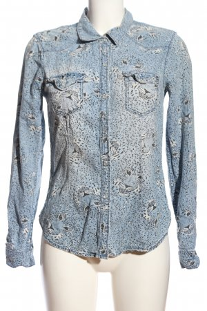 H&M Divided Jeansowa koszula Zwierzęcy wzór W stylu casual