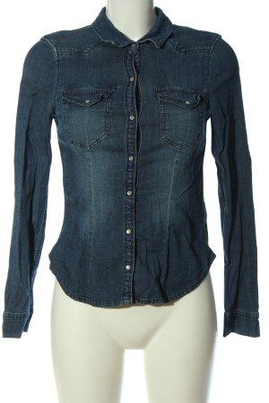 H&M Divided Jeansowa koszula niebieski W stylu casual