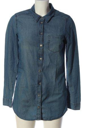 H&M Divided Jeanshemd blau Casual-Look