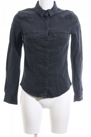 H&M Divided Jeanshemd schwarz Casual-Look