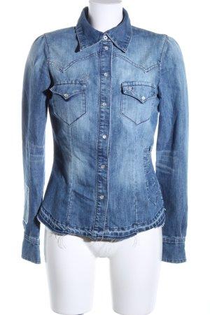 H&M Divided Jeansjacke blau Casual-Look