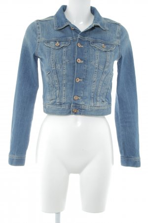 H&M Divided Jeansjacke blau Casual-Look