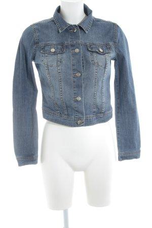 H&M Divided Jeansjacke blau Jeans-Optik