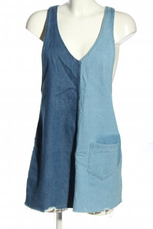 H&M Divided Abito denim blu stile casual