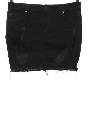 H&M Divided Spijkerrok zwart casual uitstraling