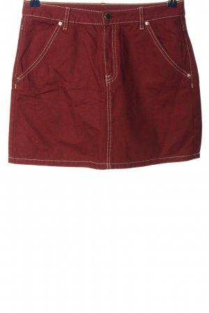 H&M Divided Jeansrock rot Casual-Look