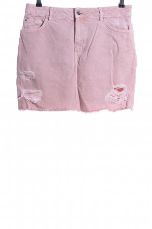 H&M Divided Jeansrock pink Casual-Look