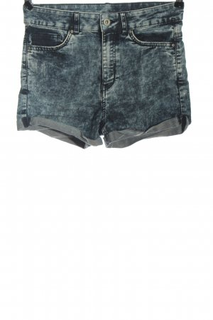H&M Divided Jeansshorts blau meliert Casual-Look