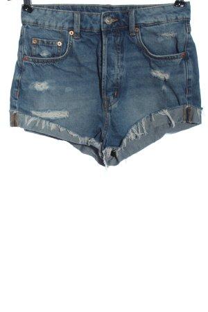 H&M Divided Pantaloncino di jeans blu stile casual