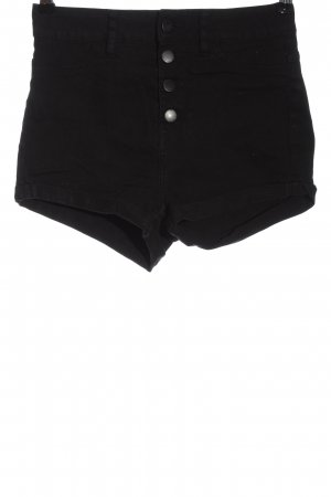 H&M Divided Pantaloncino di jeans nero stile casual