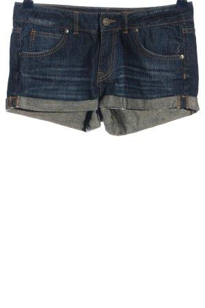 H&M Divided Pantalón corto de tela vaquera azul look casual