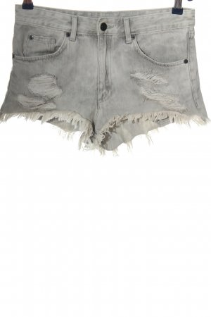 H&M Divided Denim Shorts light grey casual look