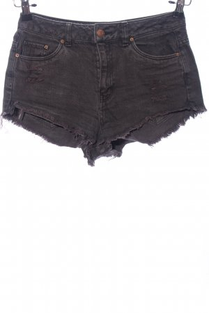 H&M Divided Jeansshorts lila Casual-Look