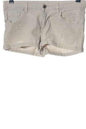 H&M Divided Pantalón corto de tela vaquera gris claro look casual