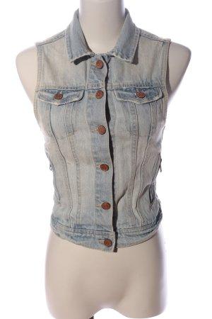 H&M Divided Jeansowa kamizelka niebieski W stylu casual