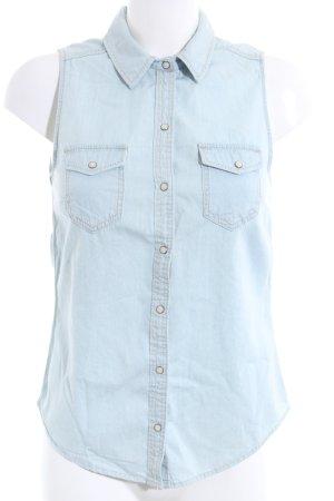H&M Divided Denim Vest blue casual look