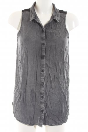 H&M Divided Jeansweste hellgrau Casual-Look