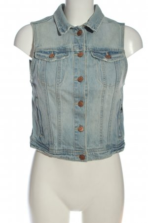 H&M Divided Jeansweste blau Casual-Look