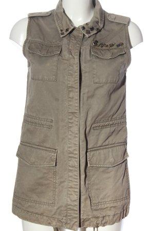 H&M Divided Gilet en jean gris clair style décontracté