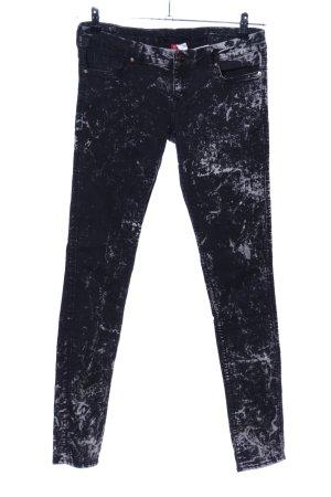 H&M Divided Jegging noir-gris clair motif abstrait style décontracté