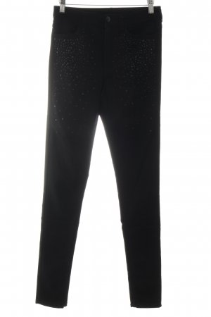 H&M Divided Jeggings schwarz Glanz-Optik