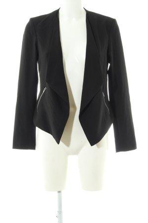 H&M Divided Jerseyblazer schwarz Business-Look