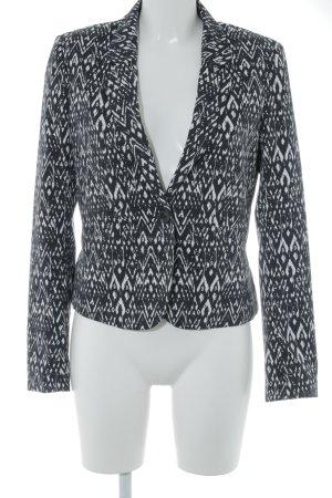 H&M Divided Jerseyblazer schwarz-weiß Ikatmuster Casual-Look