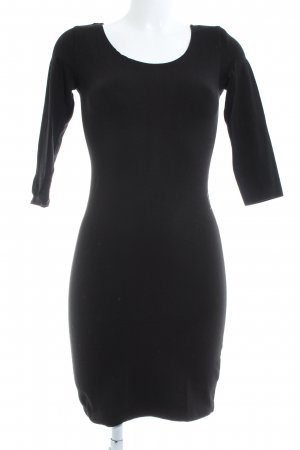 H&M Divided Jerseykleid schwarz Casual-Look