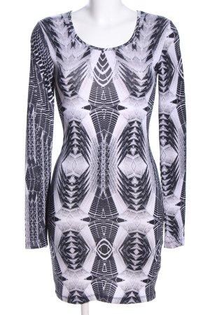 H&M Divided Jerseykleid hellgrau Allover-Druck Casual-Look