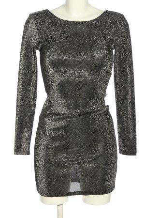 H&M Divided Jerseykleid silberfarben meliert extravaganter Stil