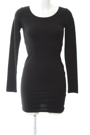 H&M Divided Jerseykleid schwarz Casual-Look