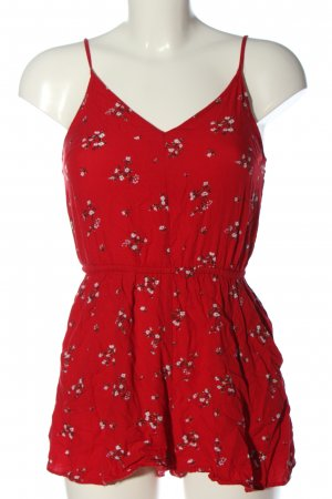 H&M Divided Jumpsuit red-white flower pattern casual look